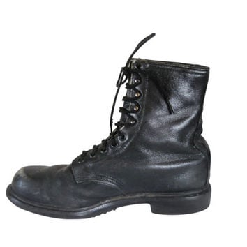 Black Combat Boot Men Grunge Military Boot Army Boot Red Wing Boot Work Boot Men Boot 9 Gothic Boot 90s Goth Boot Boot Black Lace Up Leather