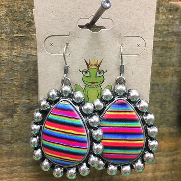 Silver serape earrings
