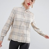 Stradivarius check long sleeve shirt at asos.com