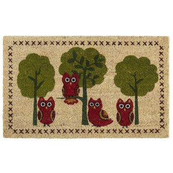Owls & Trees Doormat