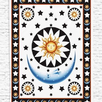 Hello Sun Goodnight Moon Wall Boho Tapestry
