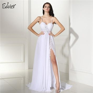 Vestido De Noiva Simple Beach Wedding Dress 2017 Spaghetti Straps Sexy Vintage Boho Backless White Bride Dress Bridal Gown