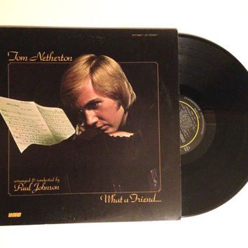 Vinyl Record Tom Netherton What A Friend We Have In Jesus LP Album 1975 Christian Music
