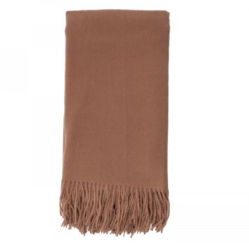 Cashmere Throw in Camel by Alashan