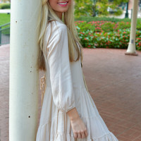 Bohemian Beige Layered Tunic