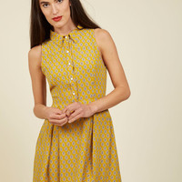 Atlanta Adventure Dress in Goldenrod Tile