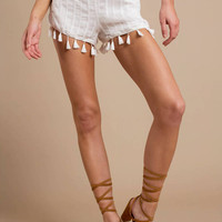 Honey Punch Afternoon Stroll Tassel Shorts