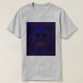 Blue/Purple Skull - Grinder Teeth T-Shirt
