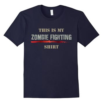 This is My Zombie Fighting Graphic T-Shirt Halloween Costume