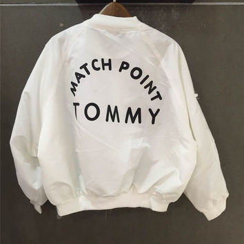 Tommy Hilfiger Loose all-match Tommy baseball uniform jacket