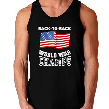 Back to Back World War Champs Dark Loose Tank Top