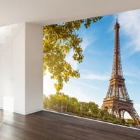 Sunshine and Eiffels Wall Mural Decal