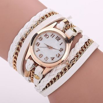 Wrap Around Gold Dial Watch