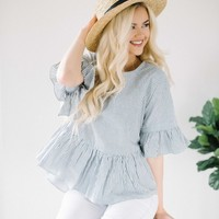 Seaside Ruffle Top
