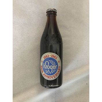 Vintage Coca-Cola Commemorative Bottle KROGER 100th Anniversary Never Opened 1983
