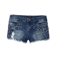 Girly Pearl Cut Off Shorts