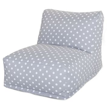 Gray Ikat Dot Bean Bag Chair Lounger