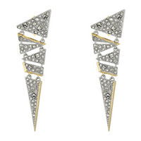 Alexis Bittar Crystal Encrusted Mosaic Lace Dangling Post Earrings Matte Rhodium/10K Gold - Zappos.com Free Shipping BOTH Ways