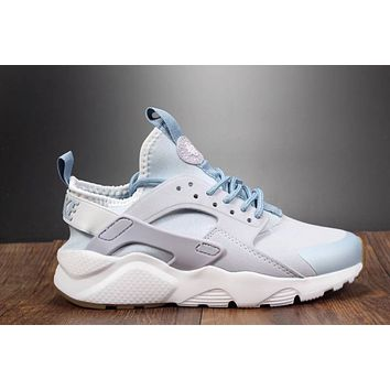 Best Online Sale Nike Air Huarache 4 Run Rainbow Ultra Breathe Women Dolphin Color Running Sport Casual Shoes Sneakers - 933