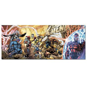 X MEN Superhero Marvel Poster Avengers Sci Fi Warrior Cyclops Hero Comics Poster Canvas Art Kids Boy Room Wall Decor