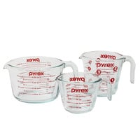 3-Piece Glass Measuring Cup Set