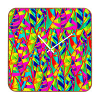 Renie Britenbucher Abstract Sailboats Neon Custom Clock