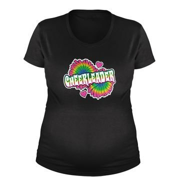 Cheerleader Maternity Pregnancy Scoop Neck T-Shirt