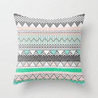CHEVRON MOTIF Throw Pillow by Vasare Nar