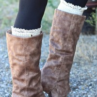 Bella Button Detail Slouch Boots (Taupe)