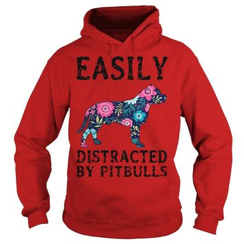 Official Easily distracted by pitbulls shirt Hoodie