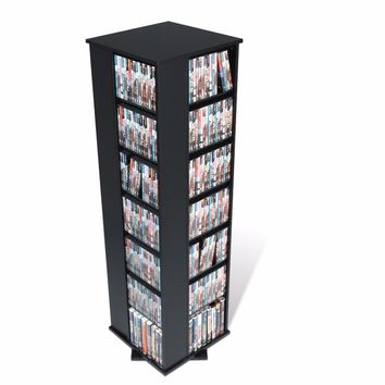 Black Large 4-Sided Spinning Tower -Prepac