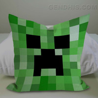 Minecraft Creeper  Case, Pillow Cover, Custom Pillow Case