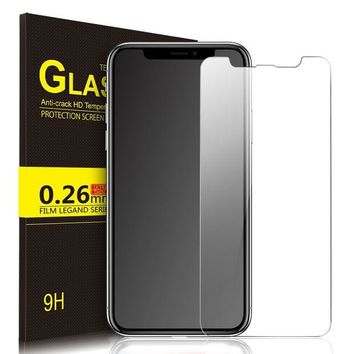 ONETOW IVSO iPhone X Tempered-Glass Screen Protector, [Crystal Clearity] [Scratch-Resistant] [No-Bubble Easy Installation] for Apple iPhone X Edition Smartphone (Clear)