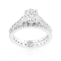 Shantell Round Cut Engagement and Wedding Ring Set | 2.8 Carat | Cubic Zirconia
