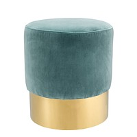 Turquoise Gold Base Stool | Eichholtz Pall Mall