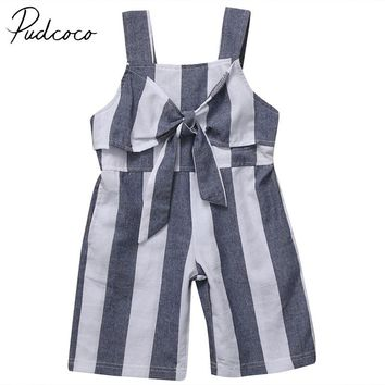 PUDCOCO Brand Cotton Blend Baby Girls Sleeveless Romper Toddler Kids Jumpsuit Clothes Outfits