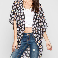 Full Tilt Daisy Womens Kimono Black  In Sizes