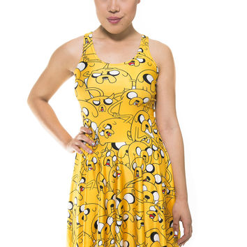 Jake the Dog Adventure Time Skater Dress