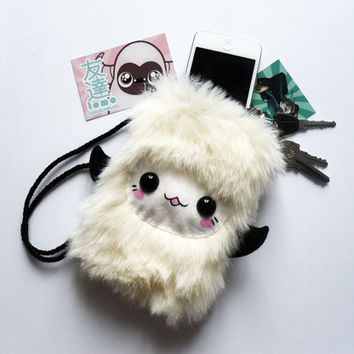 SALE  MONCHI  Kawaii Necklace Pouch Plushie by TomoLtd on Etsy