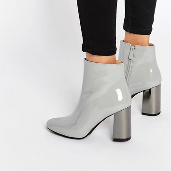 Public Desire Darla Mirror Heeled Ankle Boots