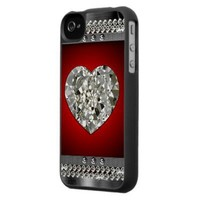 Beautiful Heart Of Diamonds iPhone4 Case from Zazzle.com