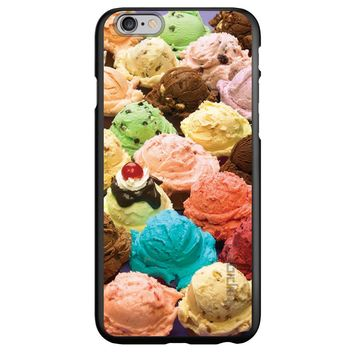 DistinctInk® Spigen ThinFit Case for Apple iPhone or Samsung Galaxy - Ice Cream Scoops Cones