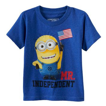 Despicable Me Minion ''Mr. Independent'' Patriotic Tee - Toddler Boy, Size: