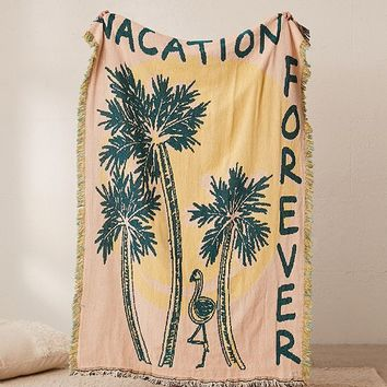 Calhoun & Co. X UO Vacation Forever Throw Blanket | Urban Outfitters