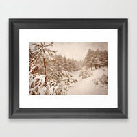 White forests. Vintage. Framed Art Print by Guido Montañés