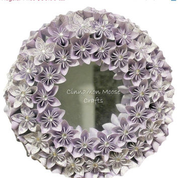 ON SALE Purple Mirror Wreath