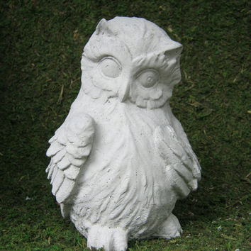 Owl Figure - Concrete Statue for Home and Garden