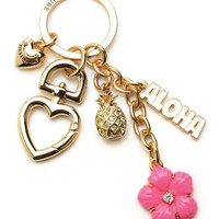 Hibiscus Flower & Charms Keyfob by Juicy Couture