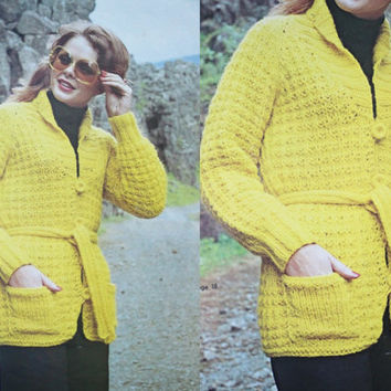 Shop Knitting Pattern Sweater Jacket on Wanelo