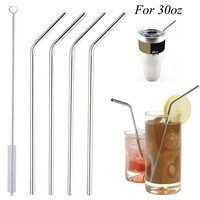 4pcs Stainless Steel Reusable Straws